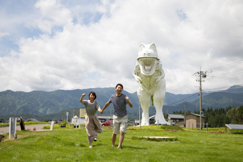 勝山の恐竜オブジェ